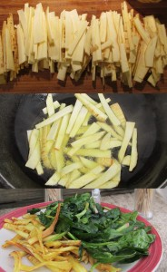 Pan-Fried Parsnips with Spinach Salad